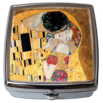 Pill-Box Square, Klimt, The Kiss Detail, 54x58x18mm