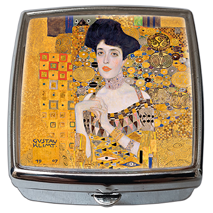 Pill-Box Square, Klimt, Adele Detail, 54x58x18mm