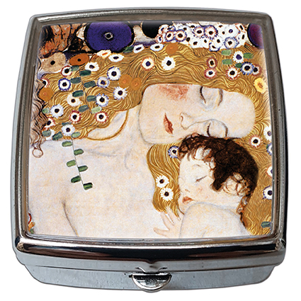 Pill-Box Square, Klimt, Mother with child, 54x58x18mm