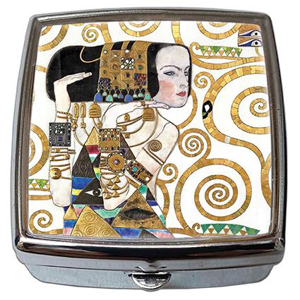 Pill-Box Square, Klimt, The Expectation, 54x58x18mm