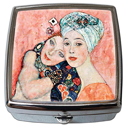 Pill-Box Square, Klimt, The Girlfriends, 54x58x18mm