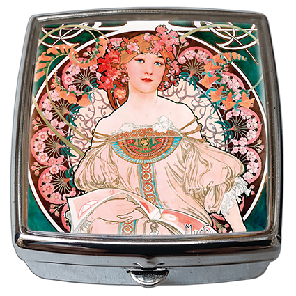 Pill-Box Square, Mucha, Reverie, 54x58x18mm