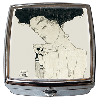 Pill-Box Square, Schiele, Stationary Girl, 54x58x18mm