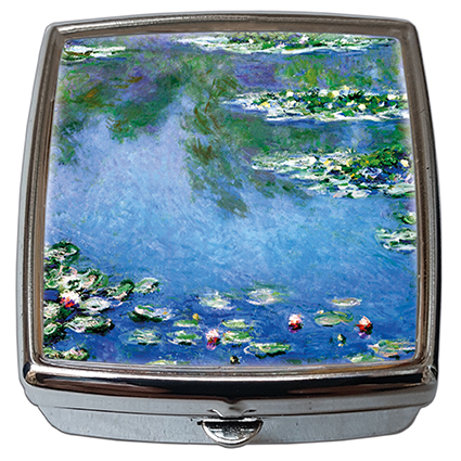 Pill-Box Square, Monet, Waterlilies, 54x58x18mm