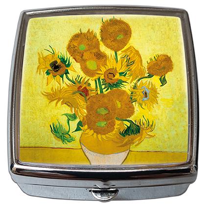 Pill-Box Square, Van Gogh, The Sunflowers, 54x58x18mm