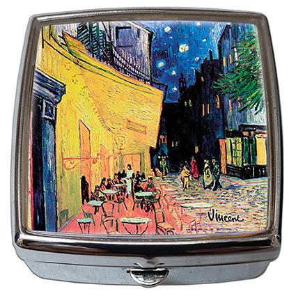 Pill-Box Square, Van Gogh, Cafe Terrace, 54x58x18mm