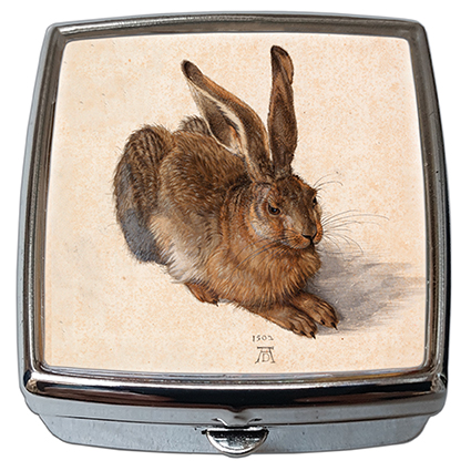 Pill-Box Square, Duerer, A Young Hare, 54x58x18mm