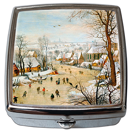 Pill-Box Square, Bruegel, Winter landscape, 54x58x18mm