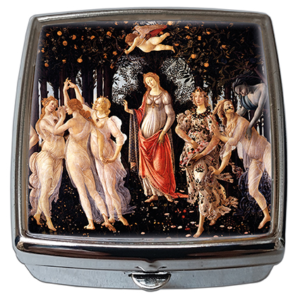 Pill-Box Square, Botticelli, La Primavera, 54x58x18mm