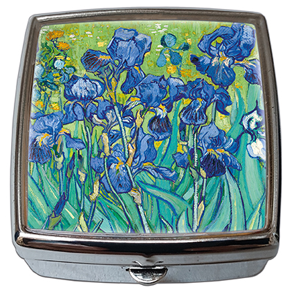 Pill-Box Square, Van Gogh, Irises, 54x58x18mm