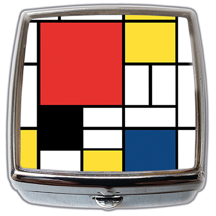 Pill-Box Square, Mondrian, Composition, 54x58x18mm