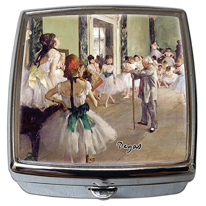Pill-Box Square, Degas, The Ballet Class, 54x58x18mm