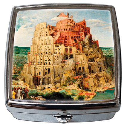 Pill-Box Square, Bruegel, Tower of Babel, 54x58x18mm