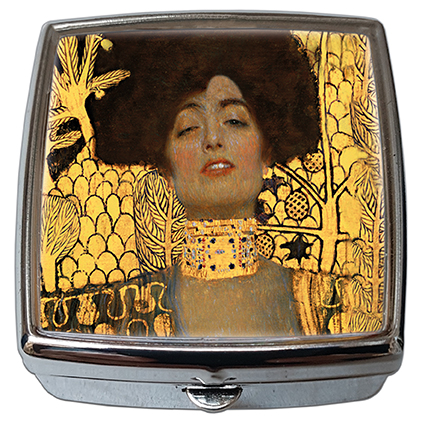 Pill-Box Square, Klimt, Judith I, 54x58x18mm