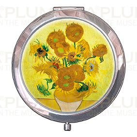 Pocket-Mirror with box, Van Gogh, Sunflowers, 70x11mm