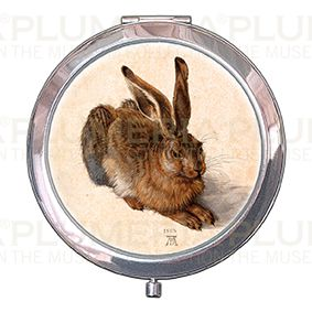 Pocket-Mirror with box, Duerer, A Young Hare, 70x11mm