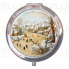 Pocket-Mirror with box, Bruegel, Winter landscape, 70x11mm