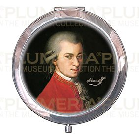 Pocket-Mirror with box, Krafft, Mozart, 70x11mm