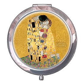 Pocket-Mirror, Klimt, The Kiss, Gold, 70x11mm