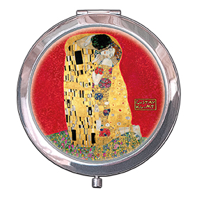 Pocket-Mirror, Klimt, The Kiss, Red, 70x11mm