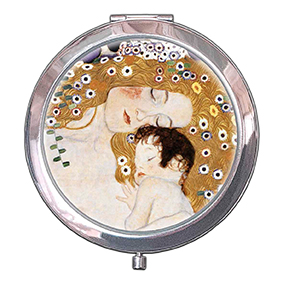 Pocket Mirror, Klimt, Mother with child, 70x11mm