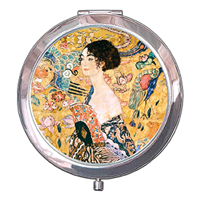Pocket Mirror, Klimt, Women with Fan, 70x11mm