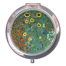 Pocket Mirror, Klimt, Garden with Sunflowers, 70x11mm