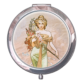Pocket-Mirror, Mucha, Spring, 70x11mm