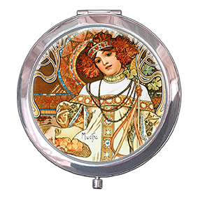 Pocket-Mirror, Mucha, Autumn, 70x11mm