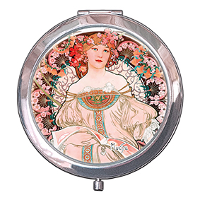 Pocket-Mirror, Mucha, Reverie, 70x11mm