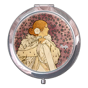 Pocket-Mirror, Mucha, La Dame Aux Camelias, 70x11mm