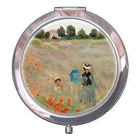 Pocket Mirror, Monet, Poppies near Argenteuil, 70x11mm