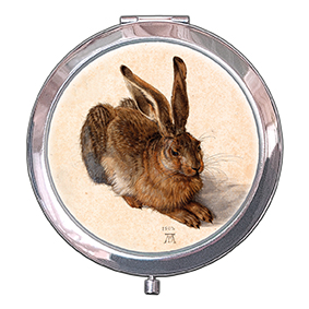 Pocket-Mirror, Dueerer, A Young Hare, 70x11mm