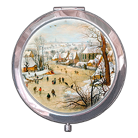 Pocket-Mirror, Bruegel, Winter landscape, 70x11mm