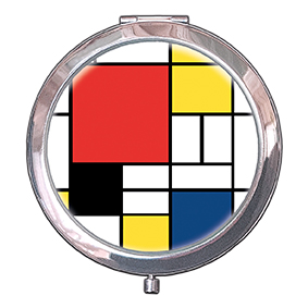 Pocket Mirror, Mondrian, Composition, 70x11mm