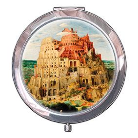 Pocket-Mirror, Bruegel, Tower of Babel, 70x11mm