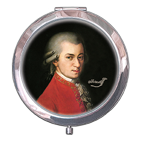 Pocket Mirror, Krafft, Mozart, 70x11mm