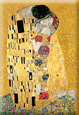 Magnet, Klimt, The Kiss, Gold, 80x55mm