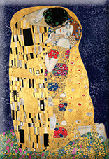 Magnet, Klimt, The Kiss, Blue, 80x55mm