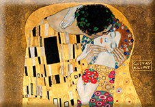 Magnet, Klimt, The Kiss Detail, 80x55mm