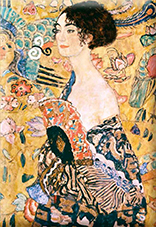 Magnet, Klimt, Women with Fan, 80x55mm