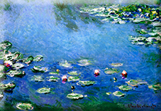 Magnet, Monet, Waterlilies, 80x55mm