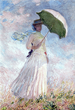 Magnet,  Monet, Women with Parasol, 80x55mm