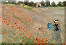 Magnet, Monet, Poppies near Argenteuil, 80x55mm