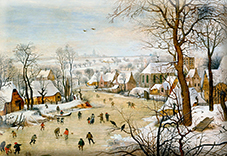 Magnet, Bruegel, Winter Landscape, 80x55mm
