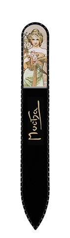 Nail File with Swarovski Element, Mucha, Spring, 13,5x1.2cm