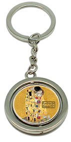 Keychain, Klimt, The Kiss Gold & Kiss Red