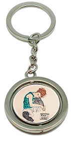 Keychain, Schiele, Seated Women & Kneeling Female