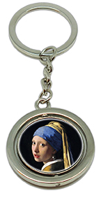 Keychain, Vermeer, Girl with Pearl Earring & Detail
