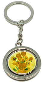 Keychain, Van Gogh, Sunflowers & Detail